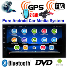 1 2 Din Android 4.4 Car DVD MP3 MP4 Player TFT 3G Wifi GPS Bluetooth FM/AM Video + Rear View Camera + Wireless Mouse(China (Mainland))