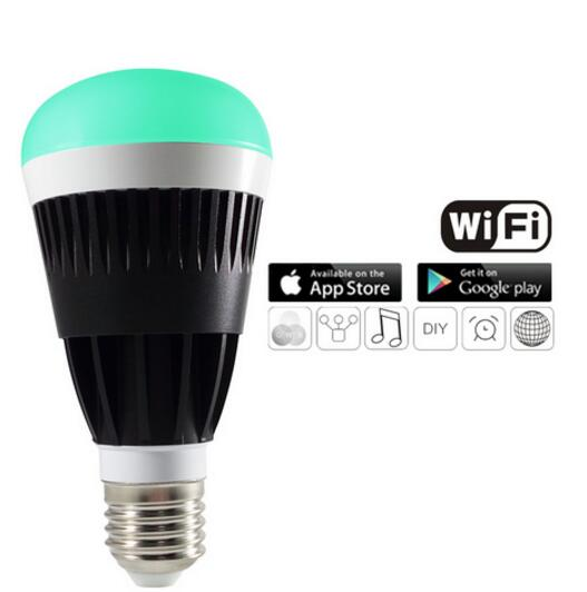 10W Wireless Smart LED Multicolor Light Bulb for Smartphones &amp; Tablets<br><br>Aliexpress