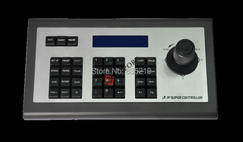 CCTV PTZ 4D Network Keyboard Controller Joystick for Security PTZ Camera DHL and EMS ship free(China (Mainland))