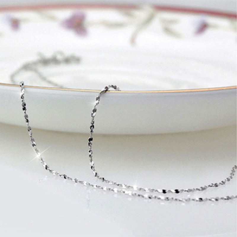 Thin 925 Sterling Silver plated 9 Styles Chain Jewelry Findings 16inch 18inch Customized Jewelry Men Women DIY Chains Necklace