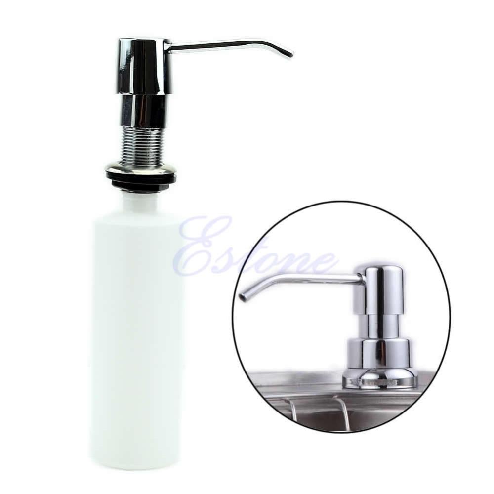 L109300ml Plastic+Stainless Steel Bathroom Kitchen Sink Kit Liquid Soap Dispenser(China (Mainland))