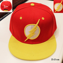 Hot Movie The Flash Cosplay Cap Novelty cartoon blue black The Avengers ladies dress mans Hat charms Costume Props Baseball cap(China (Mainland))