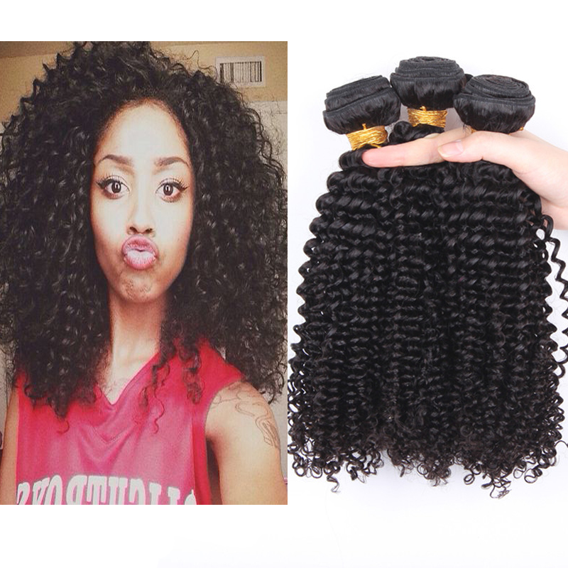 Mongolian virgin hair 5A kinky curly human hair extensions SunnyQueen hair products 3PCS Mongolian kinky curly hair