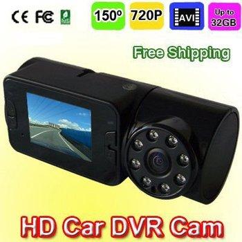 "Newest Car Black Box 2.0"" TFT Color LCD Night Vision HD 720P Car Camera Vehicle Video Recorder DVR, up to 32GB"