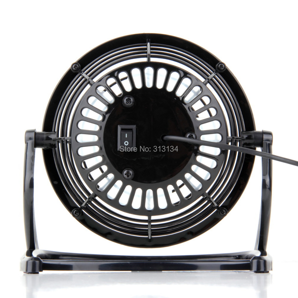 1pc USB Electric Fan 360 Rotate Metel Mute Radiator Fan Mini Portable Cooler Cooling Desktop Power PC Laptop Desk Fan(China (Mainland))
