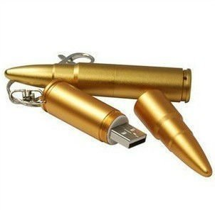 Wholesale full capacity Metal Bullet Shape Genuine 4GB 8GB 16GB 32GB USB Memory Stick Flash Pen Drive Drop shipping USB191T2