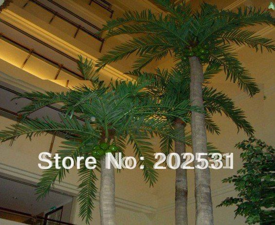 artificial 120cm coconut palm leaves,home decoration,artificial silk flower,artificial plants,free shipping(China (Mainland))