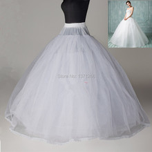 Ball Gown Style 8 Layer Tulle No Hoop White Petticoat Wedding Gown Crinoline Petticoat Accessories(China (Mainland))