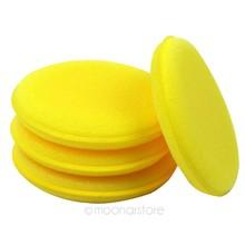 12 PCS Wholesale Car Cleaner Sponge Vehicle Glass Car Care Sponge Waxing Polish Wax Foam Sponge Applicator Pads(China (Mainland))