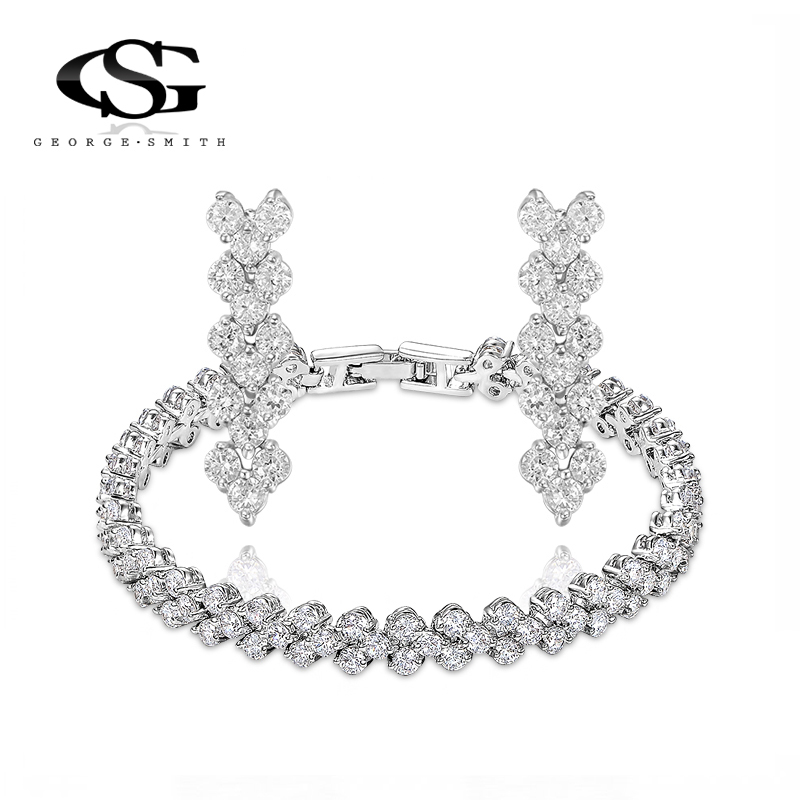 G&S Christmas Gift Fashion Crytal Fruits Set Gift Girlfriend 100% Hand made Fashion Jewelry Earrings+bracelet Big OFF