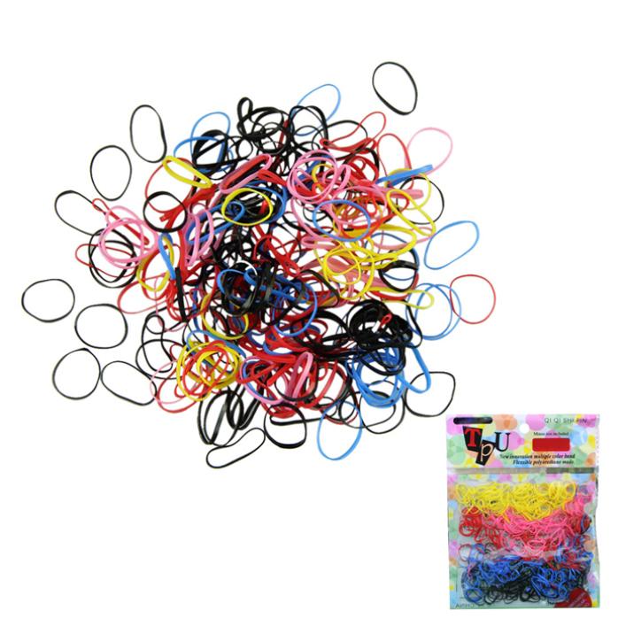 19 Modern 500pcs/lot Rubber Hairband Rope Ponytail Holder Elastic Hair Band Ties Braids Jun04(China (Mainland))