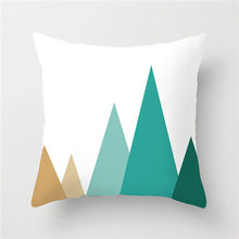 Fuwatacchi Green Yellow Geometric Cushion Cover Wave Mountain Arrows Decorative Pillows for Home Chair Sofa Pillow Cover 45*45cm(China)