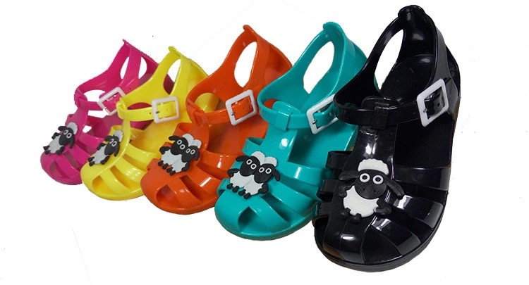 New Summer Fashion Sandals PVC Plastic Bowknot Sandals For Baby Unisex font b Shoes b font