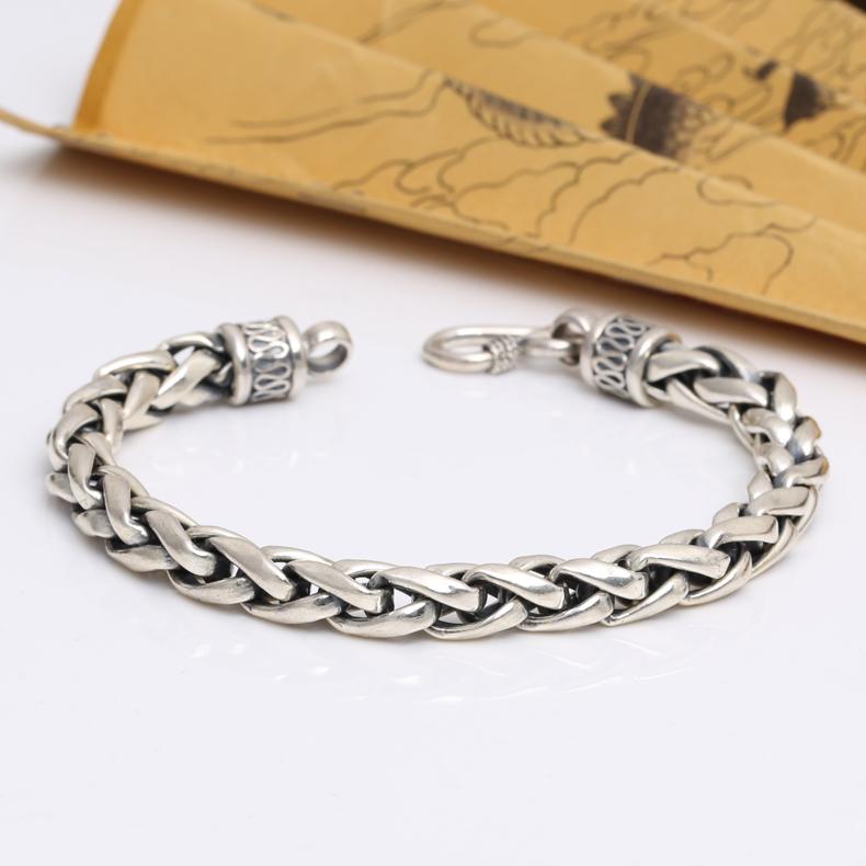 6MM Handmade Thailand 925 Siilver Lucky Bracelet Longevity Bracelet<br><br>Aliexpress