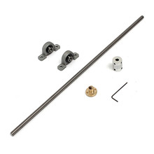 for 3D printer set Kit T8 Lead screw 400 mm 8mm + brass copper nut + bearing Bracket + aluminium shaft Coupling