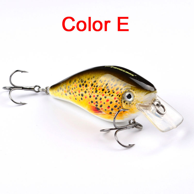 6 Color Hard Fishing Minnow Lure Crankbait Fishing Tackle Tool Sinking Depth 0.6-2.1M Floating Artificial Bait Type Crank Lure