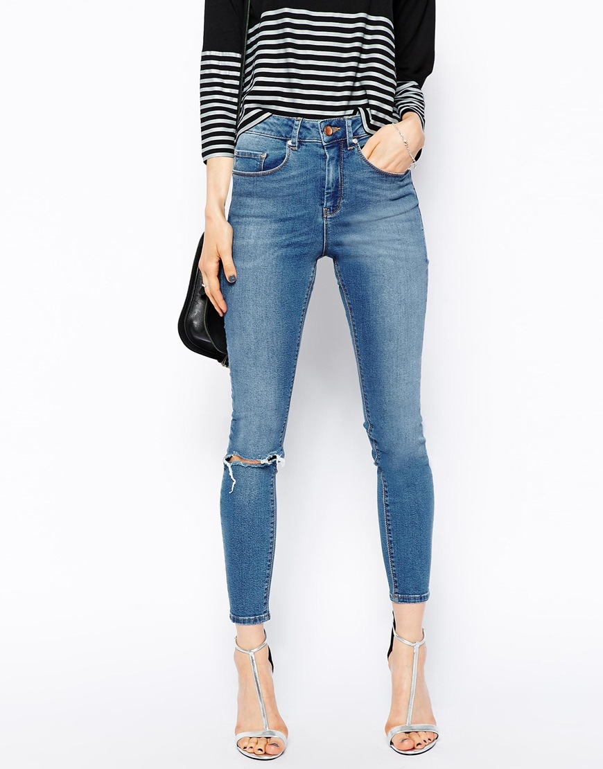 High Waisted Washed Out Jeans - Xtellar Jeans