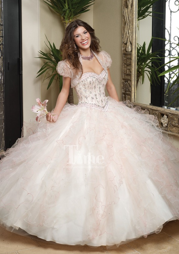 Light Pink Quinceanera Dresses 2014