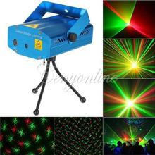 Mini R&G Red &Green Laser Light Lighting Projector DJ Disco Stage Xmas Party Show Star Club Bar Free Shipping