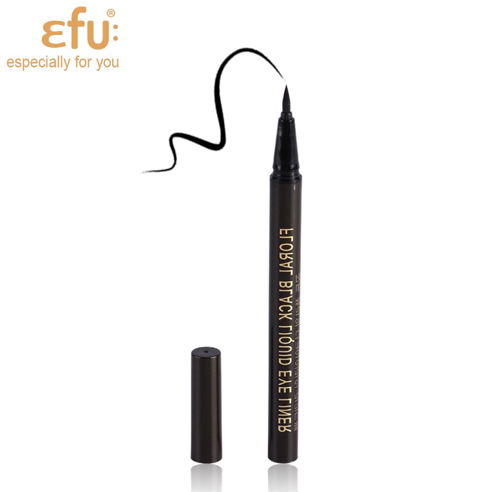 1Pcs Brand EFU Hot selling Black eye liner Cosmetics Makeup Not Dizzy Waterproof Liquid Eyeliner Pencil #7093
