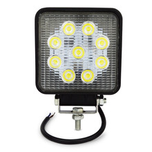 Buy 4inch 27w led work light flood spot near far led work lamp Tractor Boat Off-Road 4WD 4x4 led light work driving light for $12.35 in AliExpress store