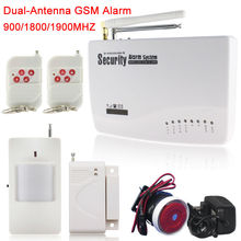 Top Quality Russian/English/Spanish Voice and Manual GSM Wireless PIR Home Security Burglar Alarm System Auto Dialing SMS Call