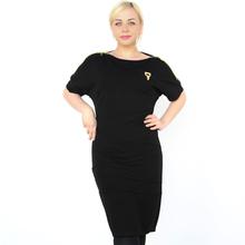 BFDADI Новые поступления 2016 европейский стиль летучей мыши с коротким рукавами молнии слово воротник женщины карандаш платье свободного покроя платья Большой размер 9 - 3282(China (Mainland))