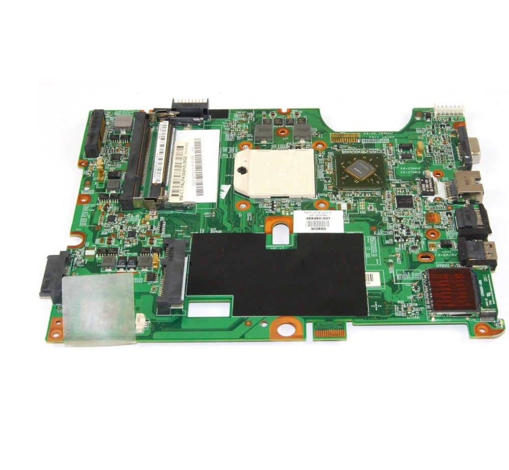 Placa base para HP Compaq Presario CQ50 G50 CQ60 G60 498460-001 100% probó el envío libre(China (Mainland))