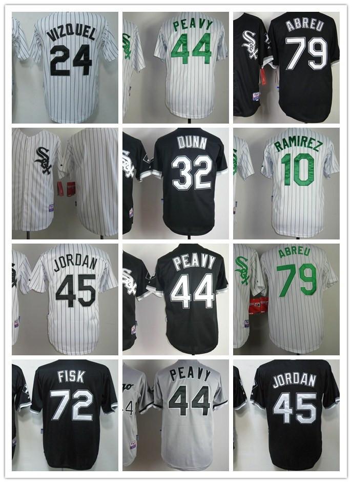 Chicago White Sox Baseball Jerseys 45 Jordan 24 Vizquel 44 Peavy 79 Abreu 32 Dunn 10 Ramirez 30 Robertson Stitched cool base(China (Mainland))