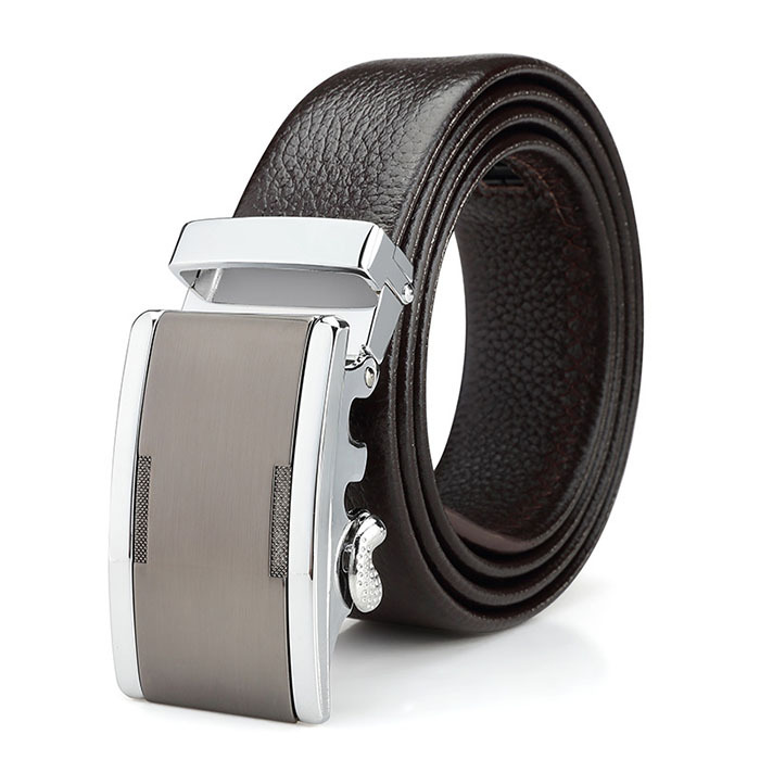 2014 Designer Western Bling Genuine Leather Brand Belt Automatic Boss Buckle Black Men's Belt Free Shipping PaulZD022(China (Mainland))