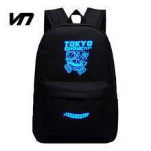 Buy 2016 Japanese Animation Backpack Anime Cartoon Tokyo Ghoul Luminous Backpack Oxford Bags Unisex Double Shoulder Bag Fans Lovest for $22.64 in AliExpress store