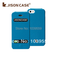 Free Shipping Jisoncase Brand Leather case For iPhone 5S Case For iPhone5 case Flip leather case for Apple5 with retail box(China (Mainland))