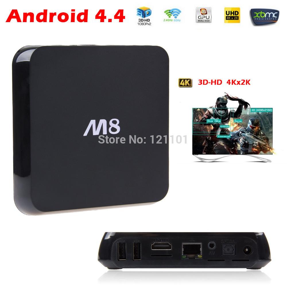 Smart TV Box 1080P HDMI XBMC Full Loaded DDR3 2GB 8G M8 TV Box Mail450 Amlogic S802 Quad Core Media Player Bluetooth Dual Wifi()