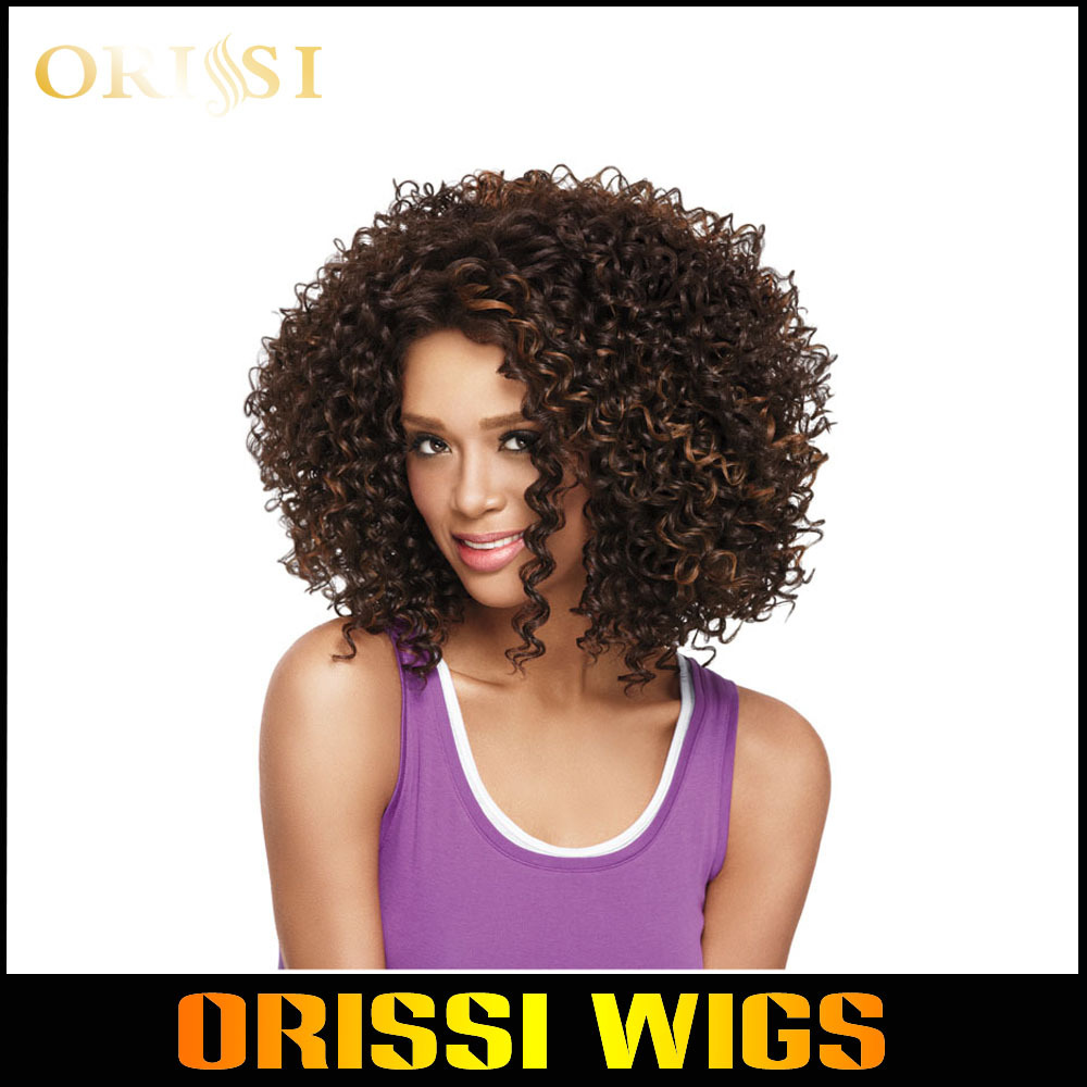 African American Wigs Synthetic Fiber Short Afro kinky Curly Hair Wigs for Black Women Lace Front U Part Wigs(China (Mainland))