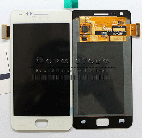 100% Original Free Shipping for Samsung I9100 Galaxy S2 LCD Display + Touch Screen Glass digitizer Assembly, Black  White