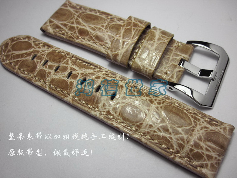 Здесь можно купить  PAM312PAM111PAM422PAM441 High-end Handmade 24mm, Atmosphere Custom Alligator Strap,Men Watchbands free shipping  Ювелирные изделия и часы