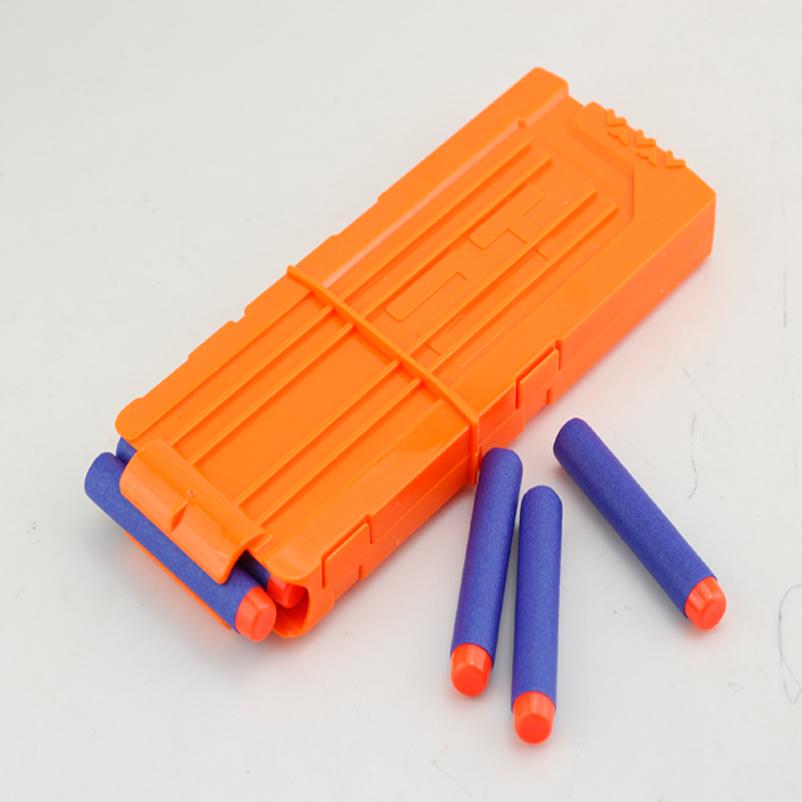 12 Bullets Plastic Dart Magazine Soft Bullet Clip For Toy Gun Magazine Replacement Ammo Clip Blaster Refill Retaliator For Boys(China (Mainland))
