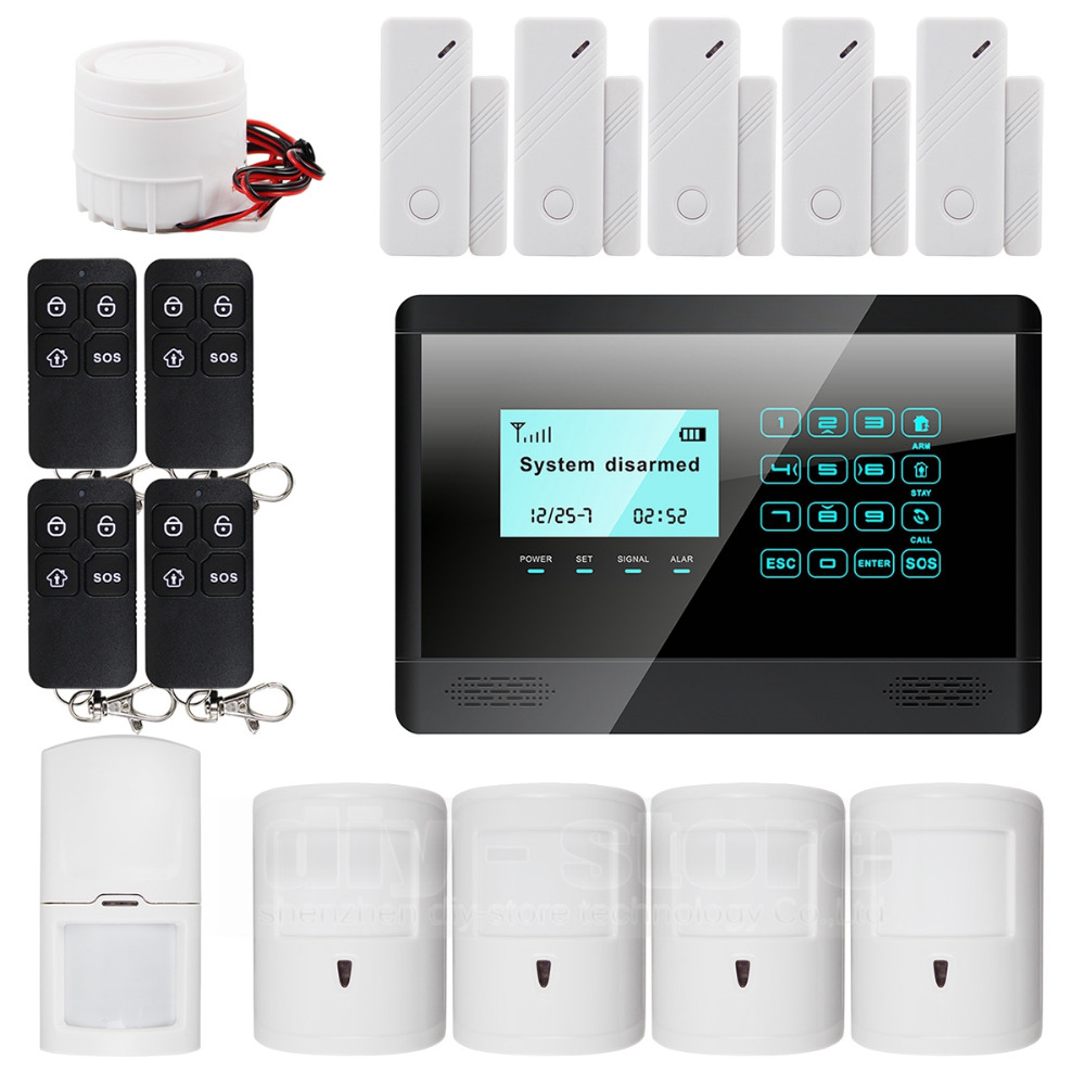 Wireless&Wired GSM SMS Autodial Home Security Pet Friendly Alarm System M2BX(China (Mainland))