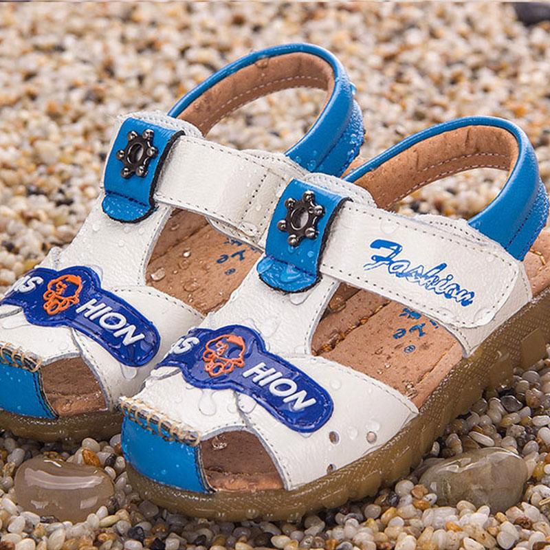2016 summer new designs children's boys and girls cartoon sandals boy Leather Magic Stick beach shoes(China (Mainland))
