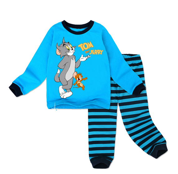2014 new 2 pcs set Retail 100 cotton Hello kitty baby pajamas of the children leopard