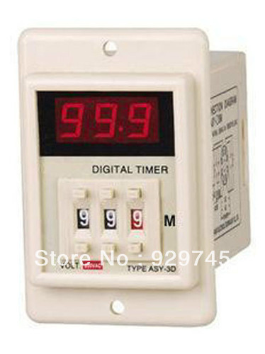 5pcs DC 24V Power ON Delay Timer Time Relay 1-999 Minute<br><br>Aliexpress