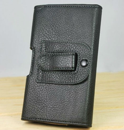 black colour Waist to hang Leather Pouch Holster Cover for BlackBerry Curve 8520 case phone cases(China (Mainland))