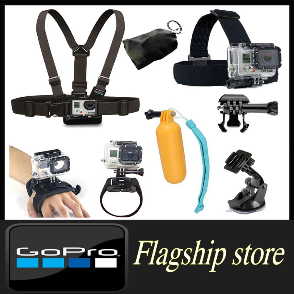 Gopro accessories Chest strap Head Strap Wrist band Car Suction Cup Grip Floating Mount sj4000 Hero 3 - Smart Living Center store