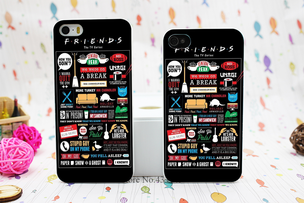 FRIENDS FUNNY TV SHOW LOGO NOVELTY Style Hard White Skin Case Cover iPhone 5 5s 5g - Shenzhen ZhuoYou Technology Co.,LTD store