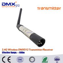Бесплатная доставка 2.4 г ISM DMX512 беспроводной мужской XLR передатчик из светодиодов освещения для сцены PAR ну вечеринку с антенна