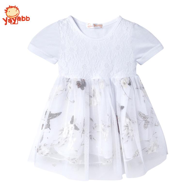 2016 New Cute Tulle Tutu Dress Baby Girl Wedding Party Dresses Summer Littile Girl Dress Cotton Mesh Princess Kids Clothes(China (Mainland))