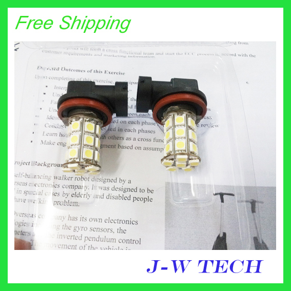 Brand new 27 SMD 5050 LED  H11 LED light  bulb for car Fog light
