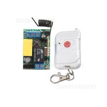 Envío Gratis 220 V 1CH rf control remoto inalámbrico/puerta interruptor Receptor y Transmisor sistema de casa inteligente z-onda