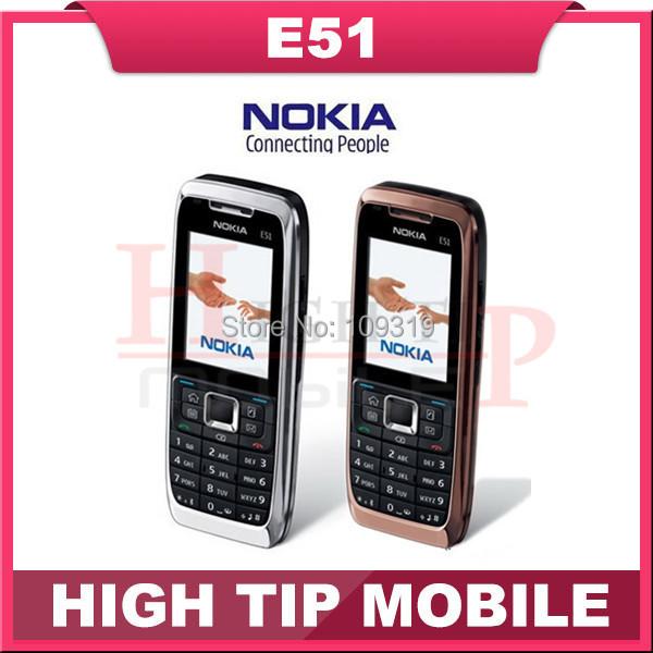 Original Nokia E51 Mobile Phones Bluetooth JAVA WIFI Unlock Cell Phone Refurbished Free Shipping In Stock(China (Mainland))