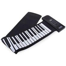 Hot Sale 66 Keys Electronic MIDI Piano Keyboard Silicon Flexible Roll Up Piano PU61S USB MIDI Roll Up Piano Kit - 100 - 240V(China (Mainland))
